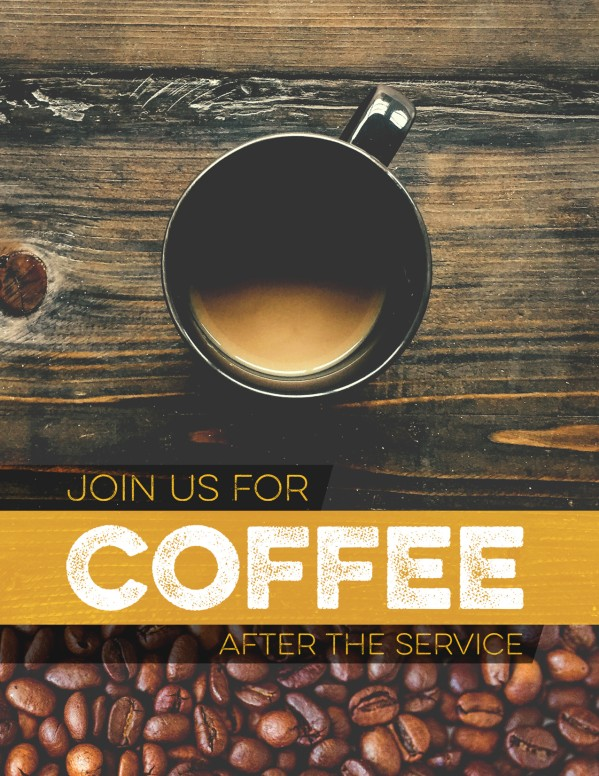 coffee shop ministry church flyer template