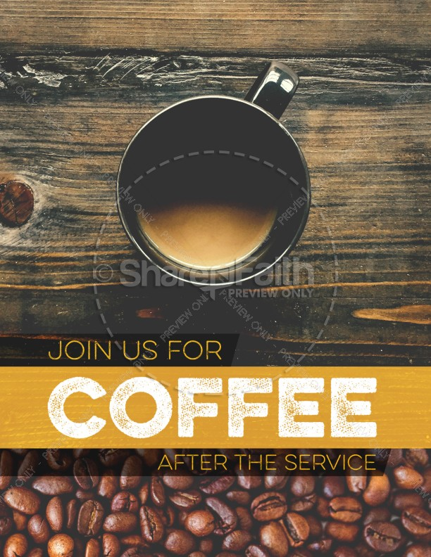 Coffee Shop Ministry Church Flyer