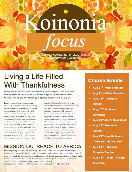 God Will Provide Christian Newsletter Template