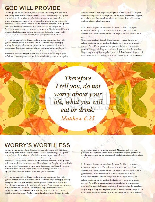 God Will Provide Christian Newsletter Template