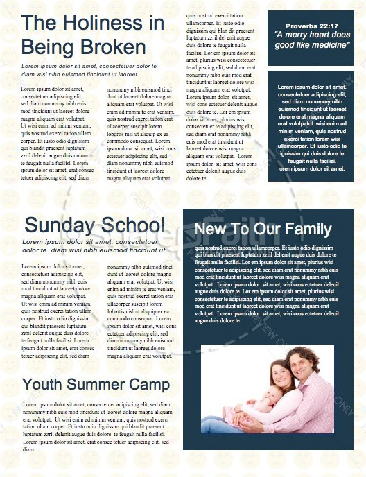 It's Complicated Church Newsletter Template
