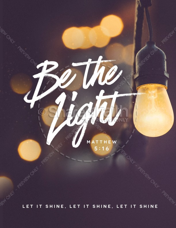 Be The Light Church Flyer Template
