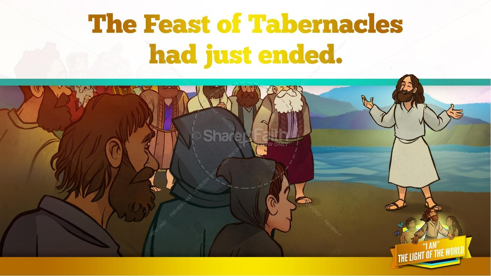 John 8 Light Of The World Kids Bible Story | slide 12
