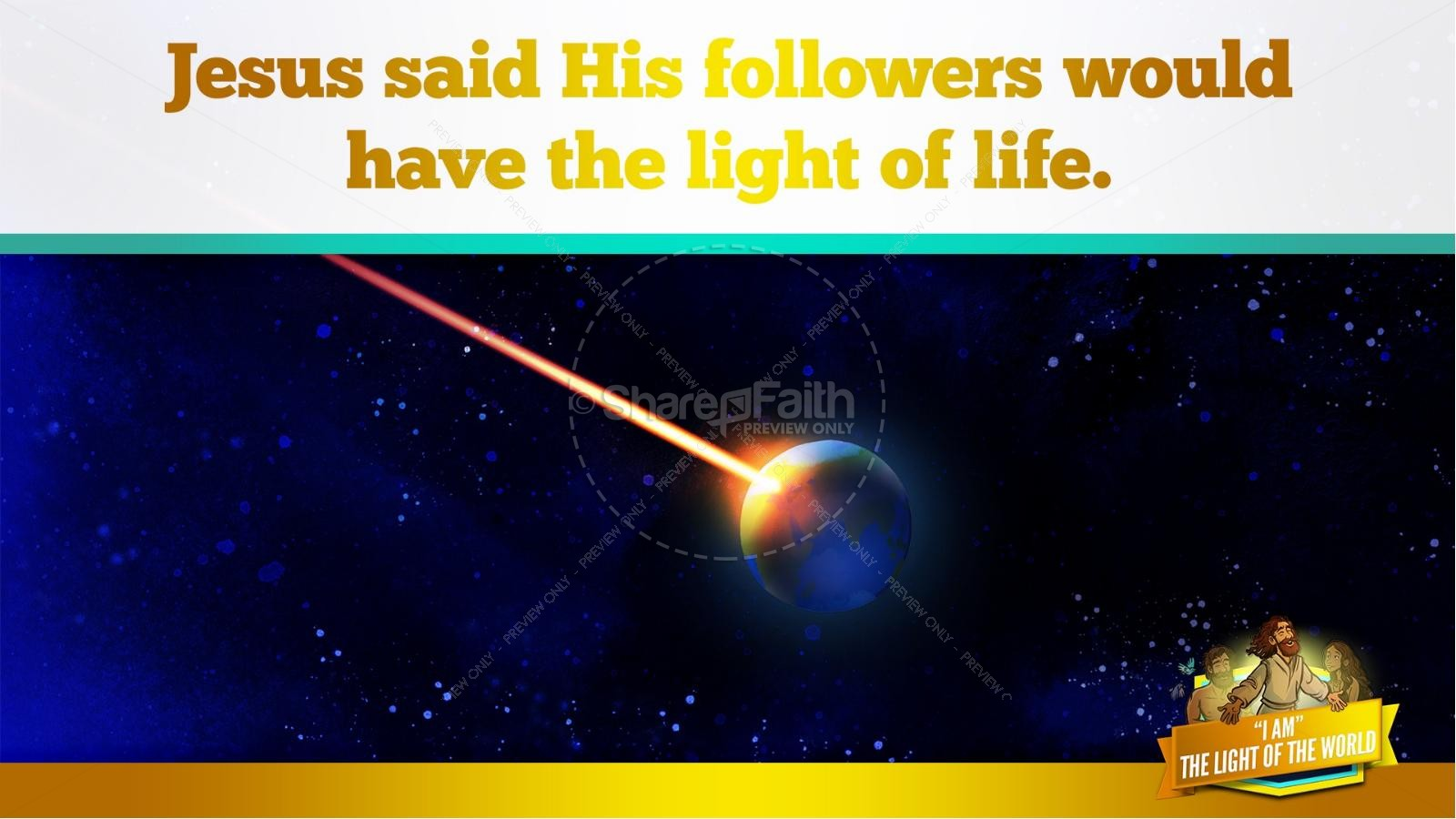 John 8 Light Of The World Kids Bible Story | slide 16
