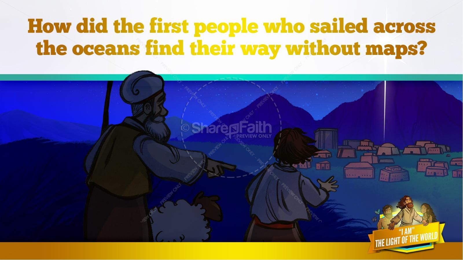 John 8 Light Of The World Kids Bible Story | slide 33