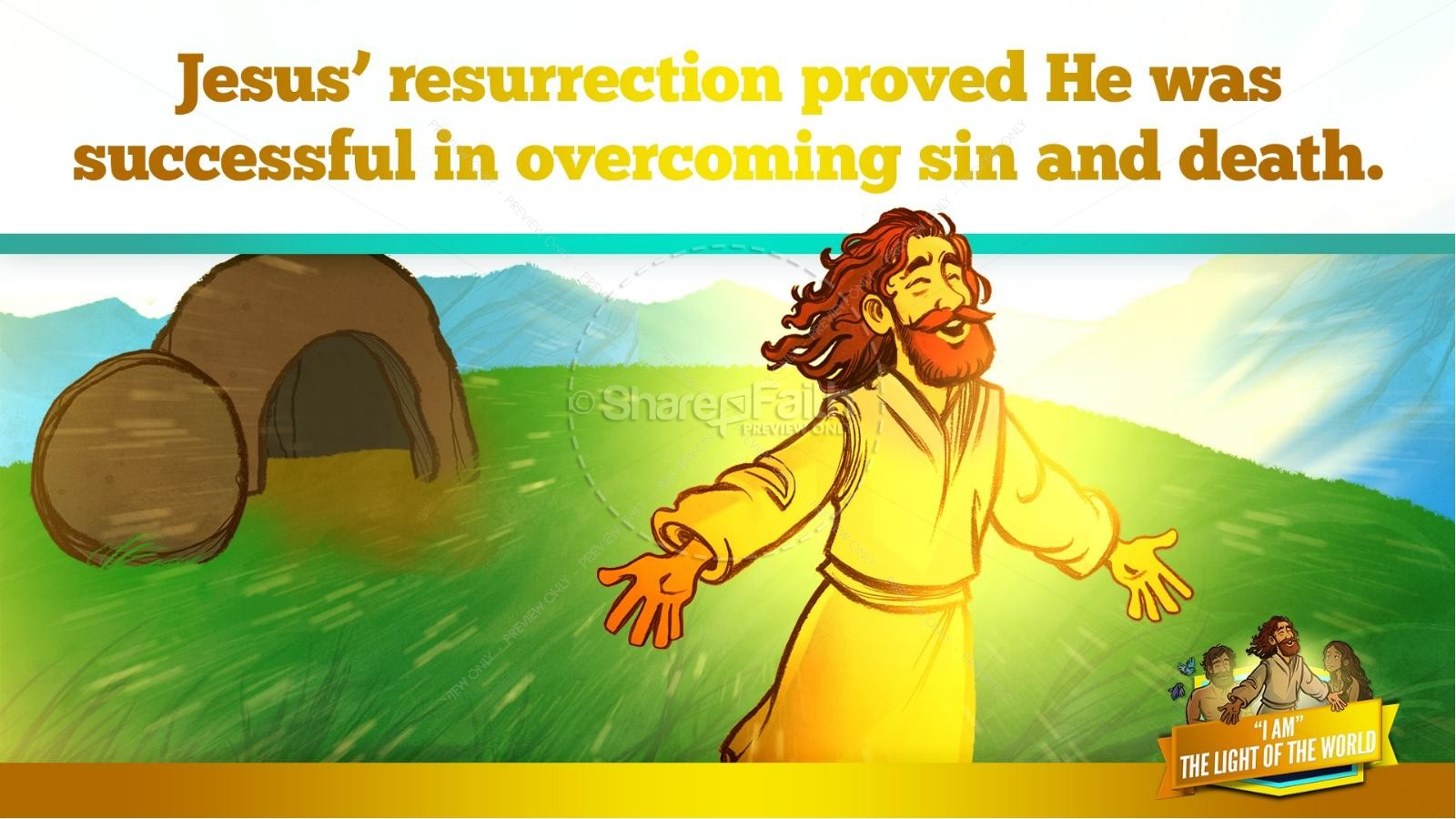 John 8 Light Of The World Kids Bible Story | slide 36