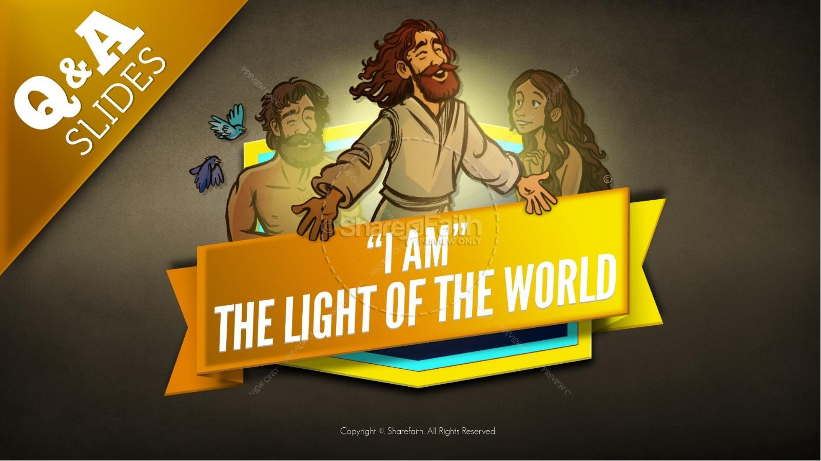 John 8 Light Of The World Kids Bible Story | slide 9