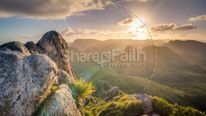 Heavenly Sunrise Christian Stock Photo