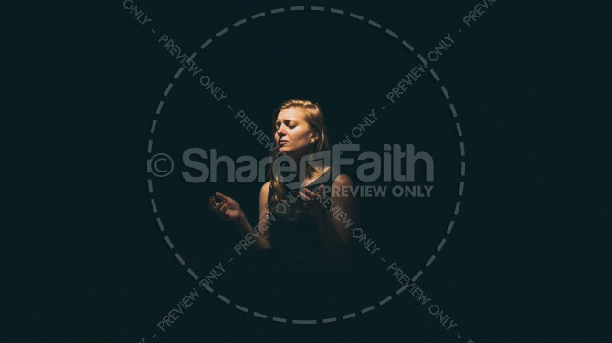Woman Praying Alone Christian Stock Photo