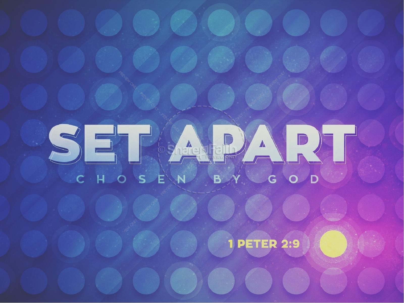 Set Apart Chosen By God Church PowerPoint