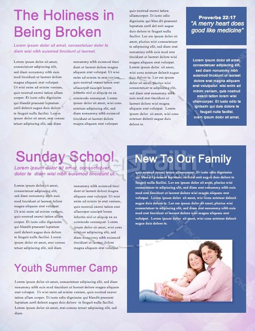 Set Apart Church Newsletter Template
