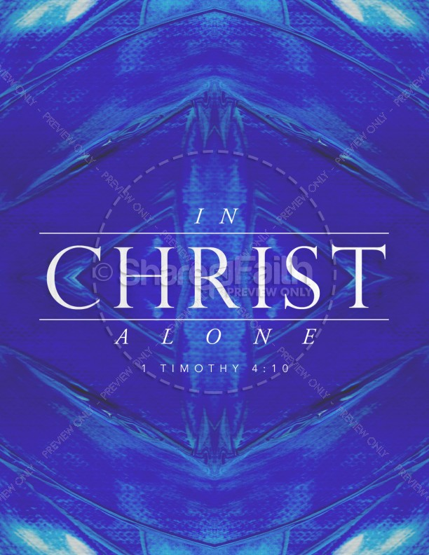 In Christ Alone Church Flyer Template