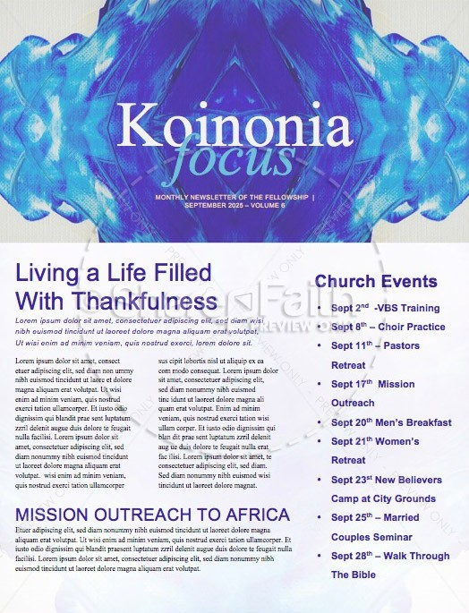 In Christ Alone Hope Church Newsletter Template