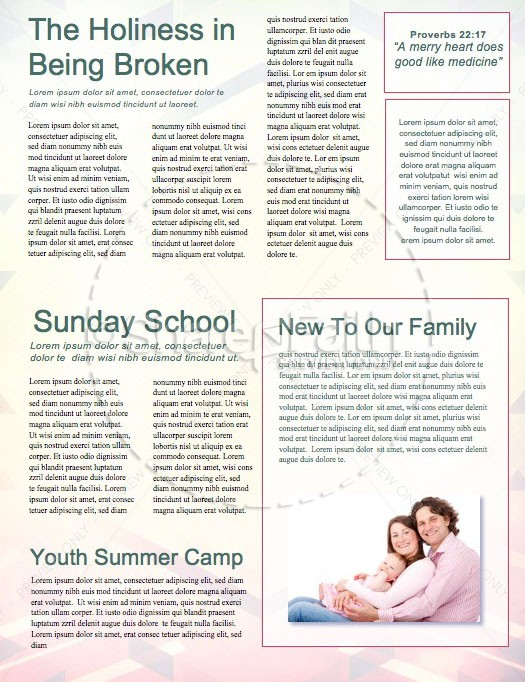 Heaven Bound Church Newsletter Template