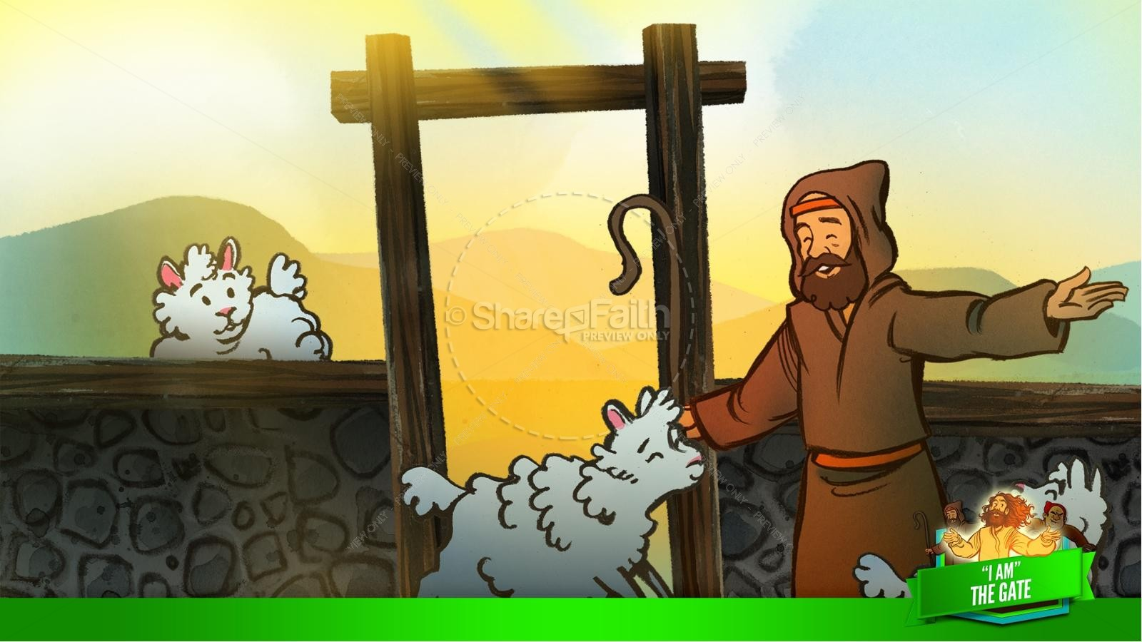 John 10 I am the Door Kids Bible Story