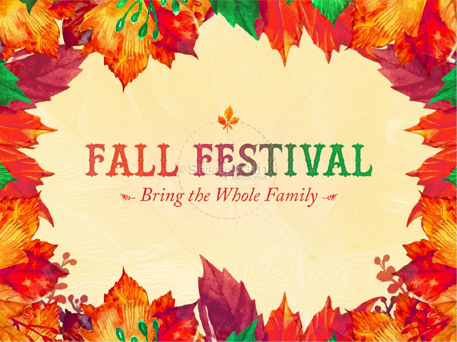 Fall Festival Autumn Leaves Church PowerPoint