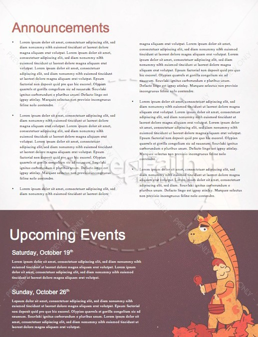 Trunk or Treat Harvest Festival Newsletter Template