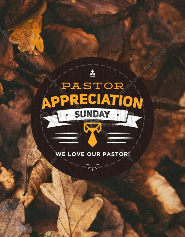 Pastor Appreciation Day Fall Flyer