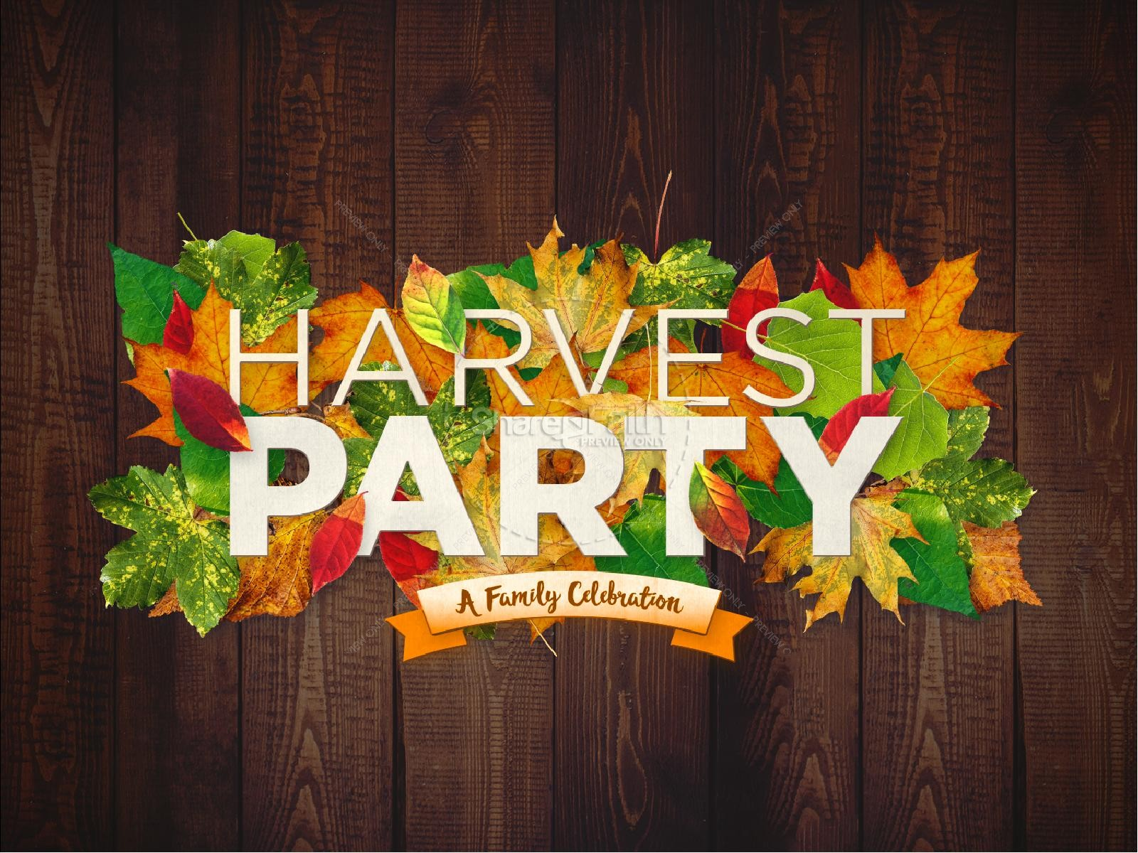 Fall Harvest Party Church PowerPoint
