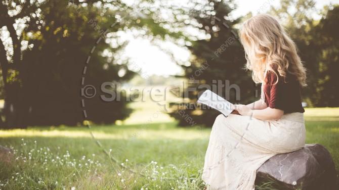 Woman Reading Bible Christian Stock Photo