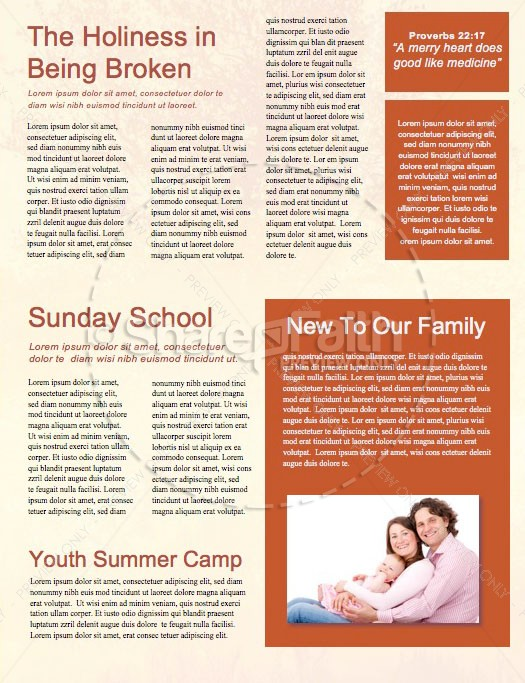 Faith and Hope Church Newsletter Template