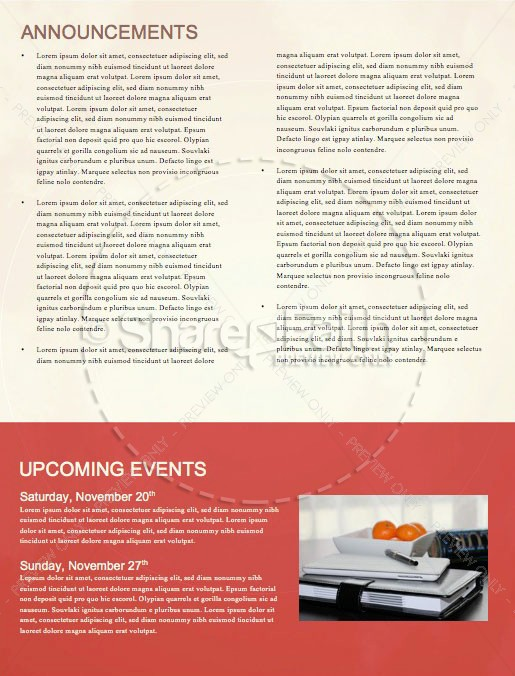 We Are Thankful Fall Newsletter Template
