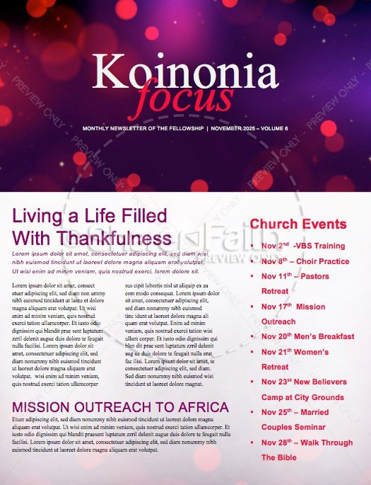 Advent A Season of Preparation Church Newsletter