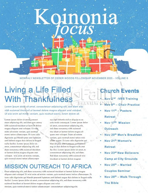 All I Want For Christmas Church Newsletter