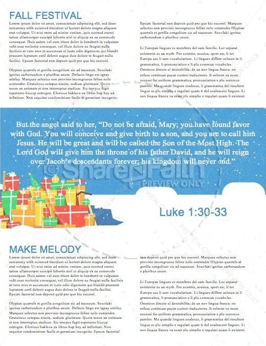 All I Want For Christmas Church Newsletter | page 2