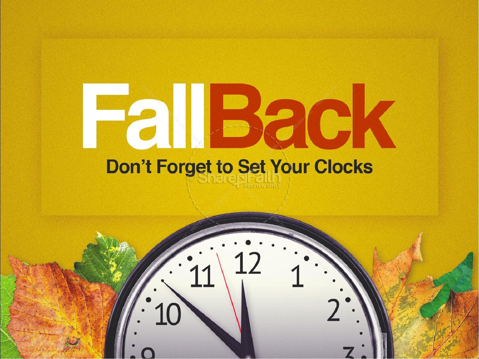 Fall Back Daylight Saving Time Church PowerPoint