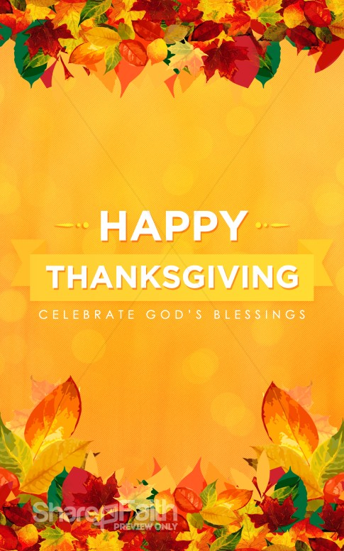 Happy Thanksgiving Blessings Church