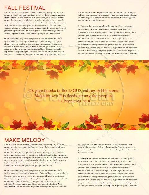Happy Thanksgiving Blessings Church Newsletter