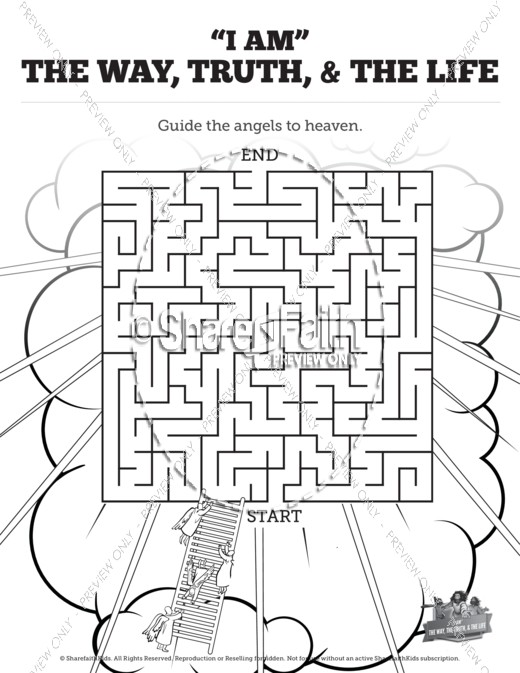 John 14 The Way The Truth And The Life Bible Mazes Bible