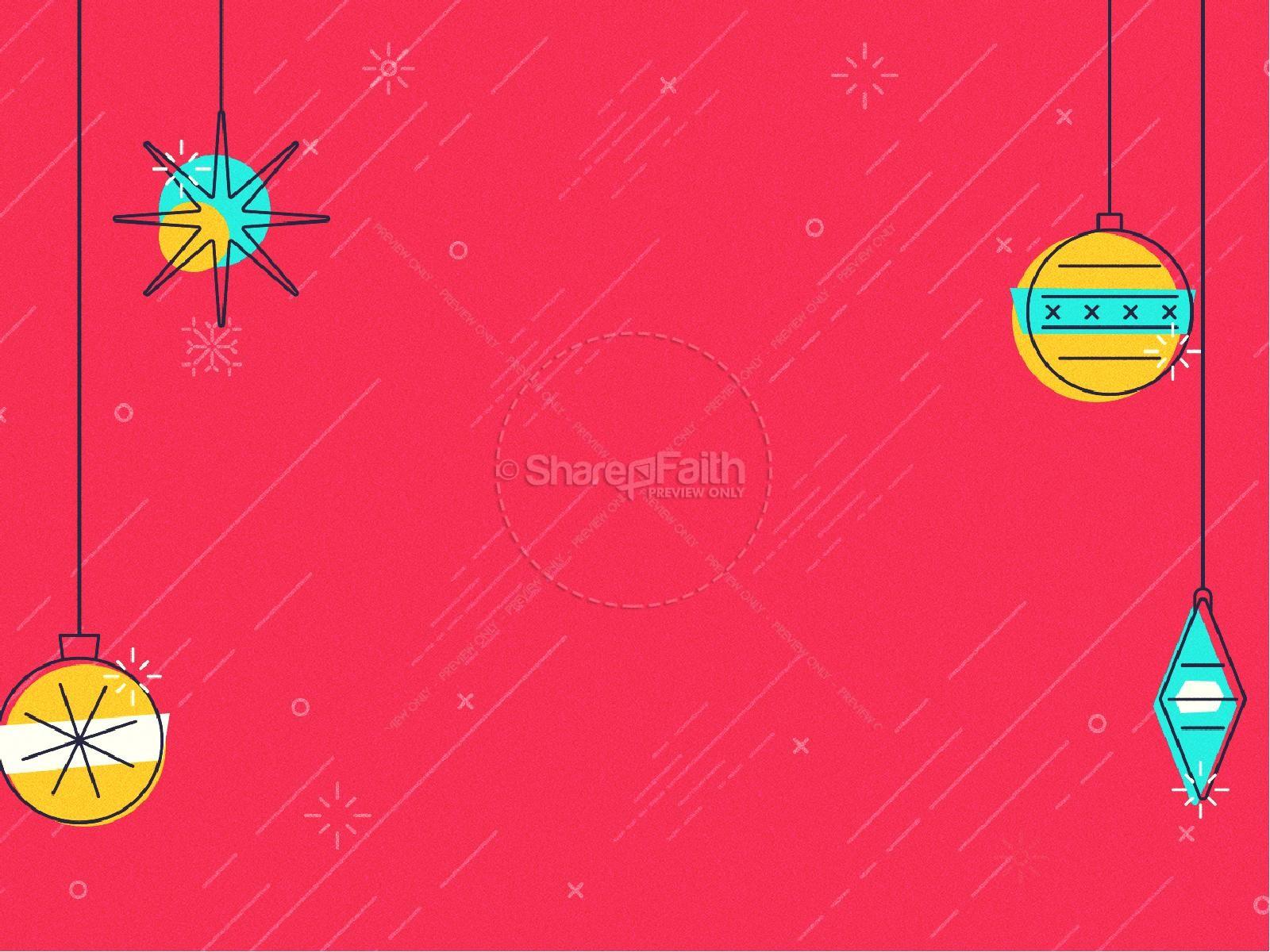 Merry Christmas Ornaments Church PowerPoint   slide 6