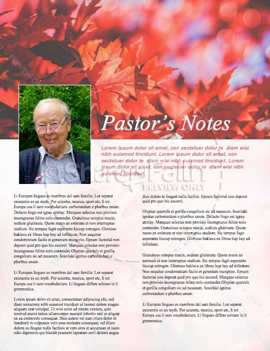 Happy Thanksgiving Wishes Church Newsletter