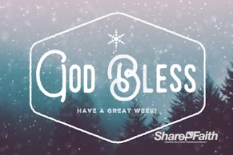Christian Merry Christmas Goodbye Video Church Motion