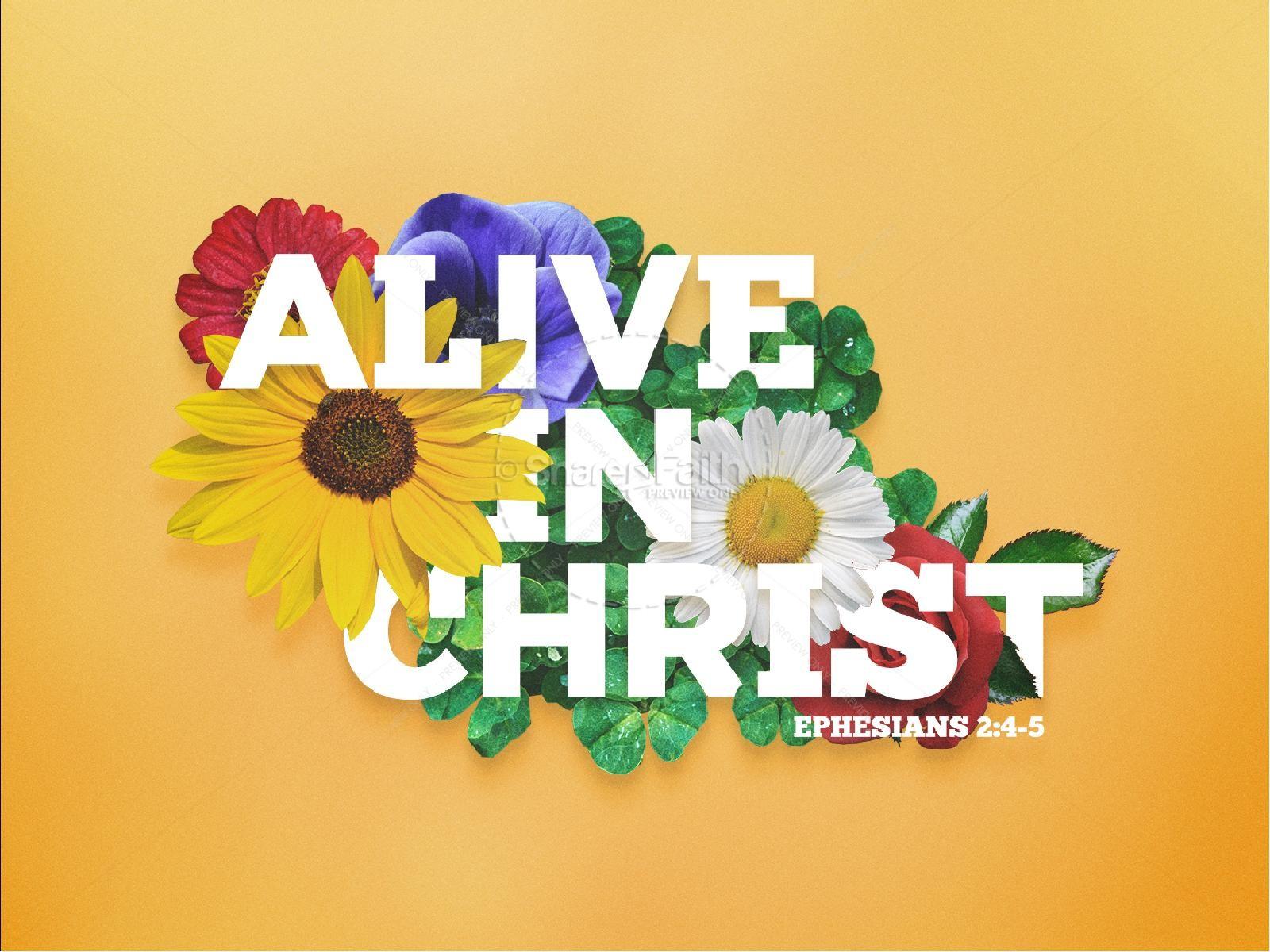 Alive in Christ Sermon PowerPoint