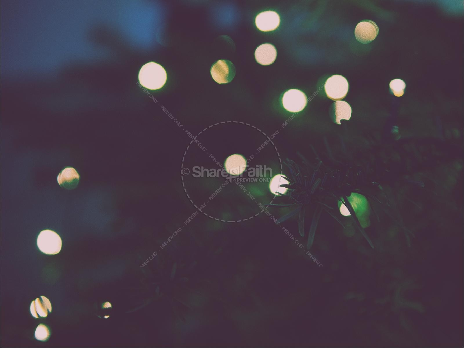 Christmas Tree Lights Christmas PowerPoint