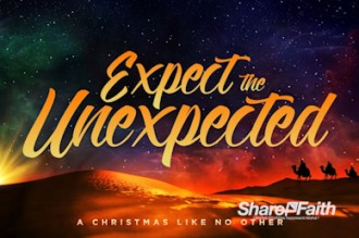 Expect The Unexpected Christmas Motion Loop Church