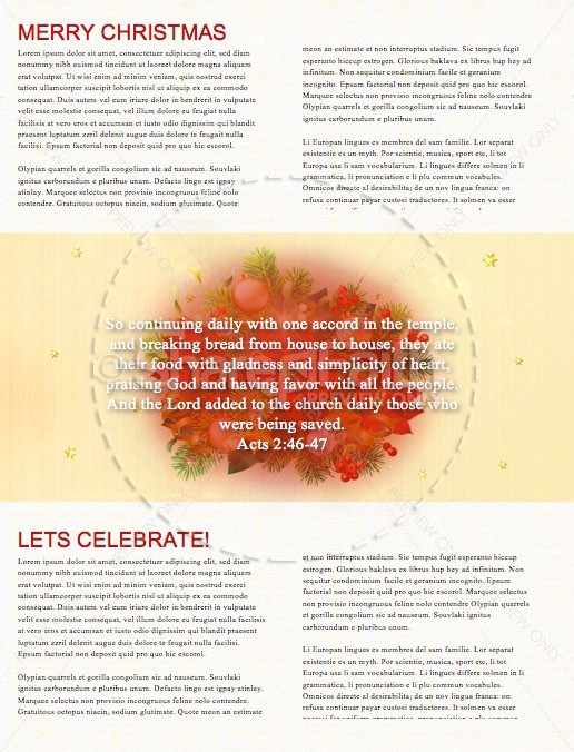 May Your Days Be Merry And Bright Christmas Newsletter