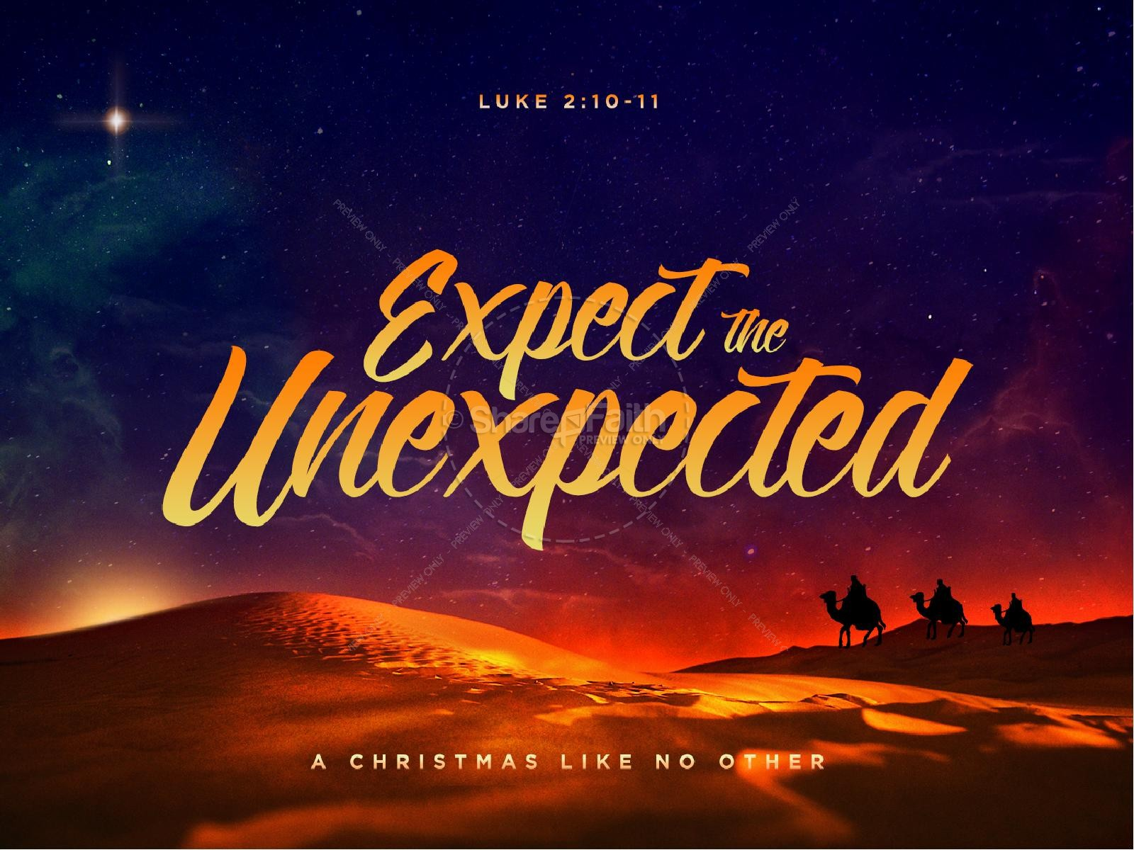 Expect the Unexpected Christmas PowerPoint | slide 1