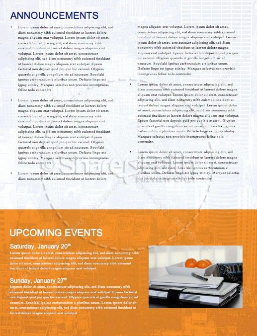 Do Over Church Newsletter Template