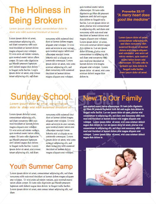 A Savior is Born Christmas Church Newsletter