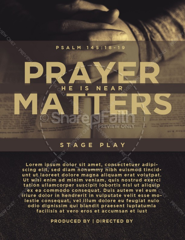 Scripture On Praying Church Flyer
