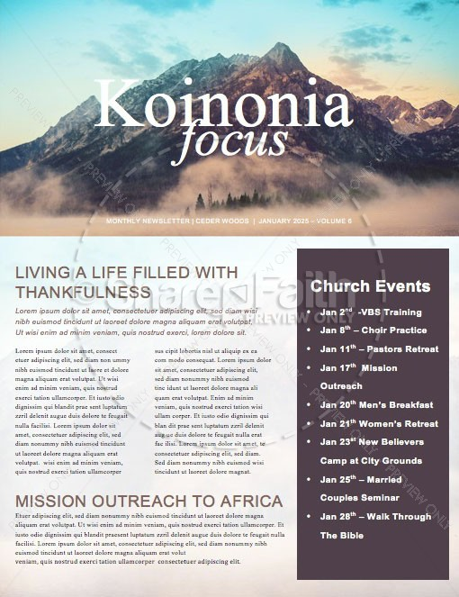 Moving Mountains Church Newsletter