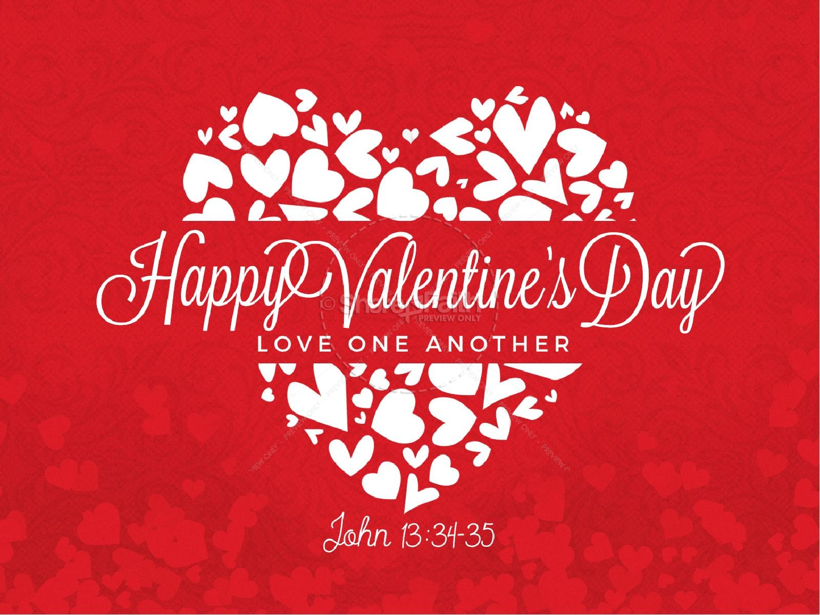 Happy Valentine's Day Love One Another Church PowerPoint