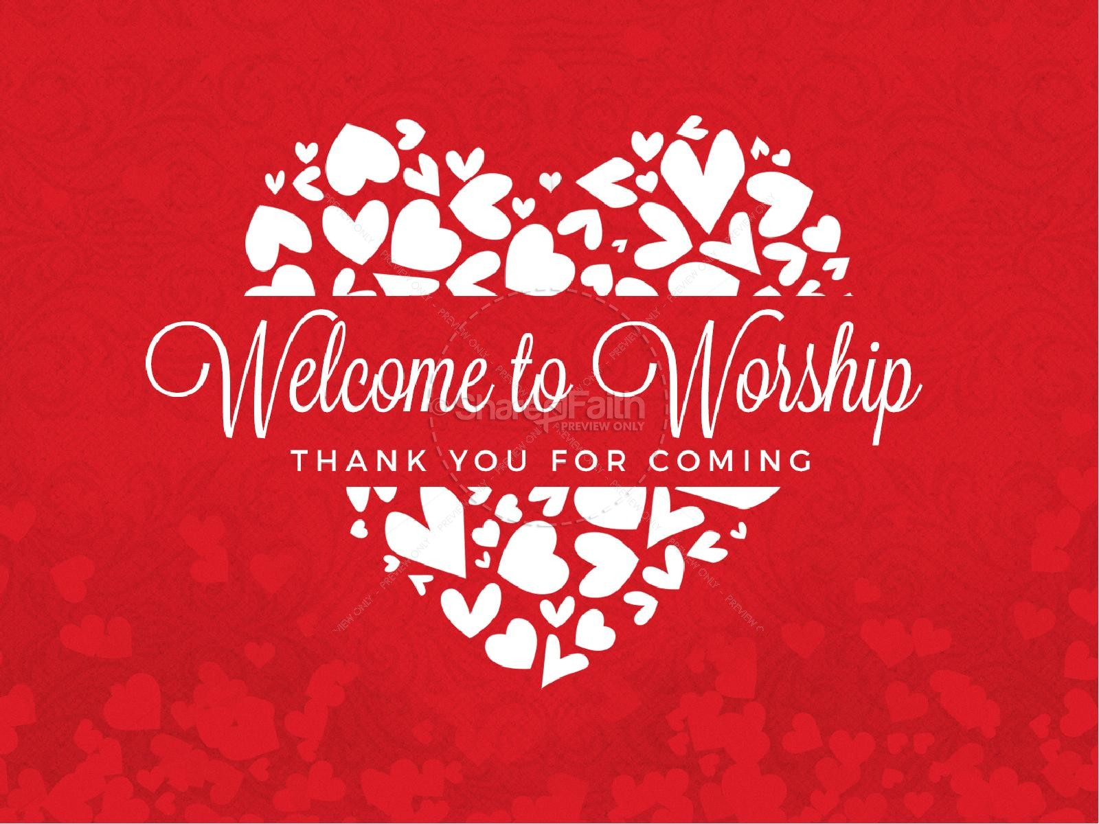Happy Valentine's Day Love One Another Church PowerPoint | slide 2