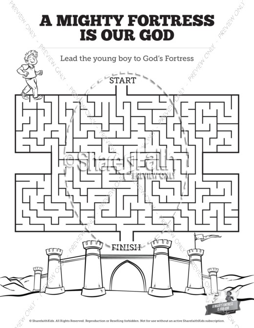 Psalm 91 A Mighty Fortress Is Our God Bible Mazes Bible