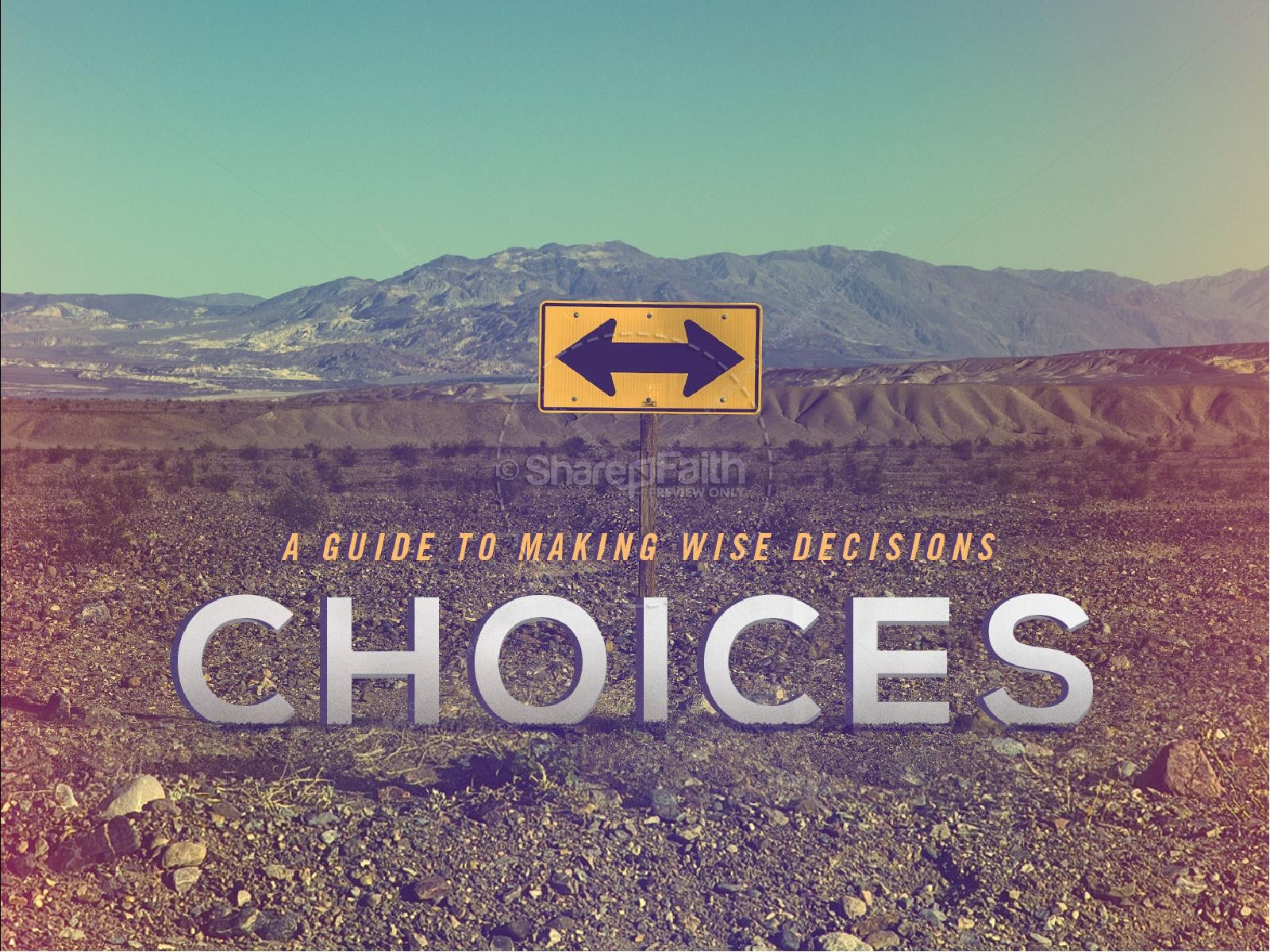 Making Wise Choices Sermon PowerPoint | slide 1