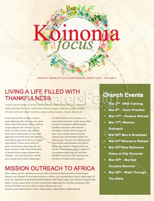 Spring Has Sprung Church Newsletter